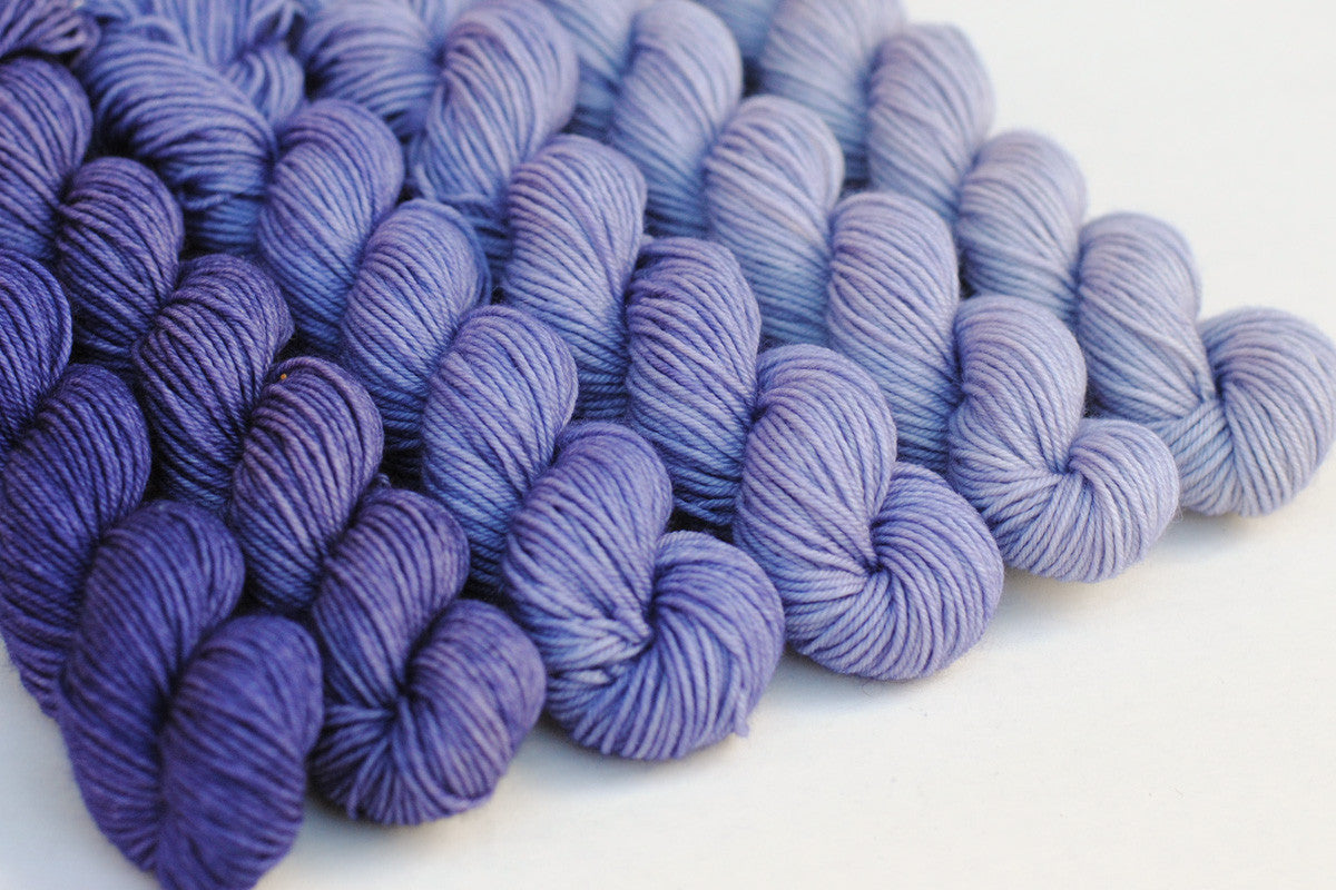 Crescendo hand-dyed gradient yarn set - Lavender Dusk