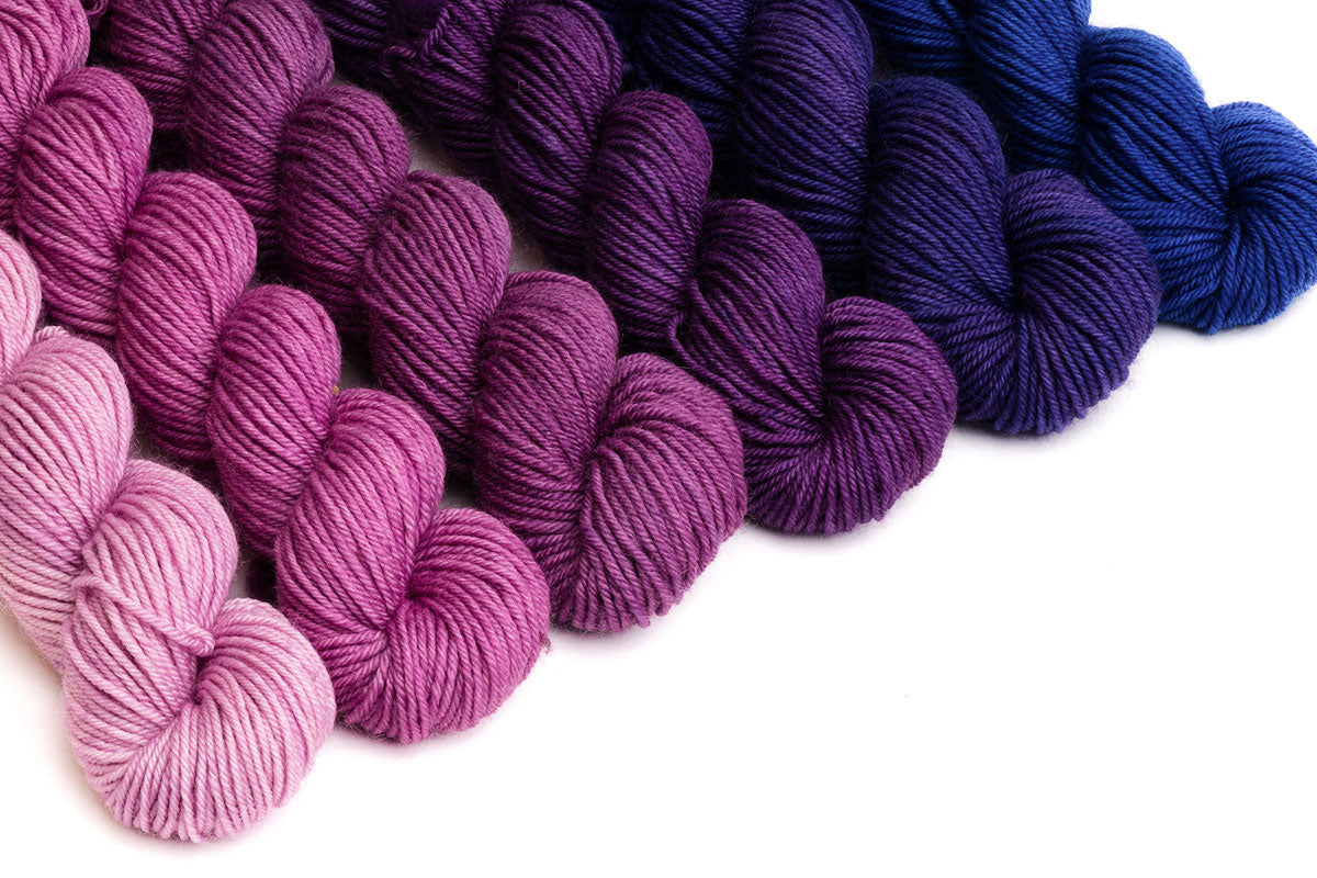 Crescendo hand-dyed gradient yarn set - Pocketful of Posies