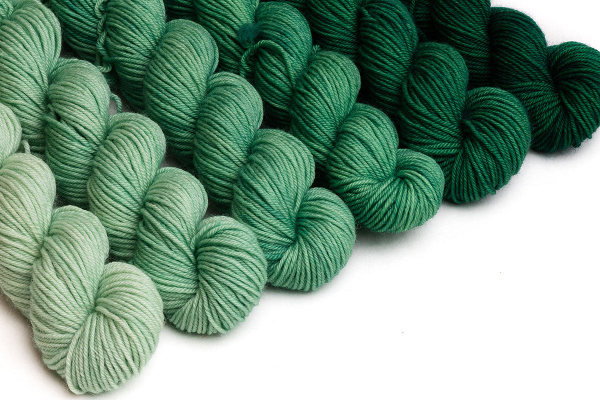 Crescendo hand-dyed gradient yarn set - Wintergreen