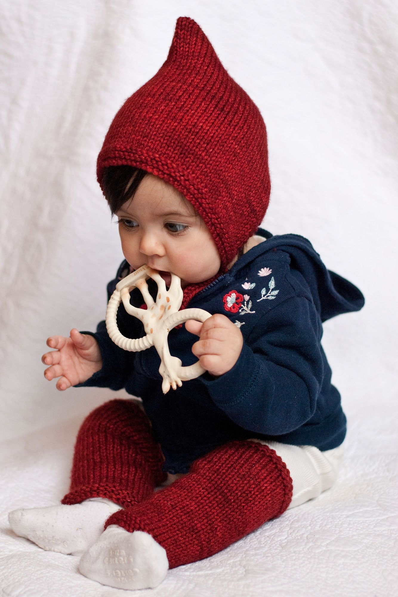 Débutant baby set free knitting pattern