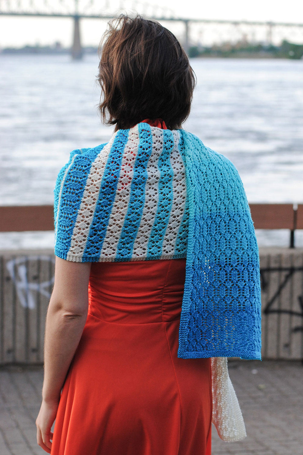 Devaneio gradient lace knitting pattern