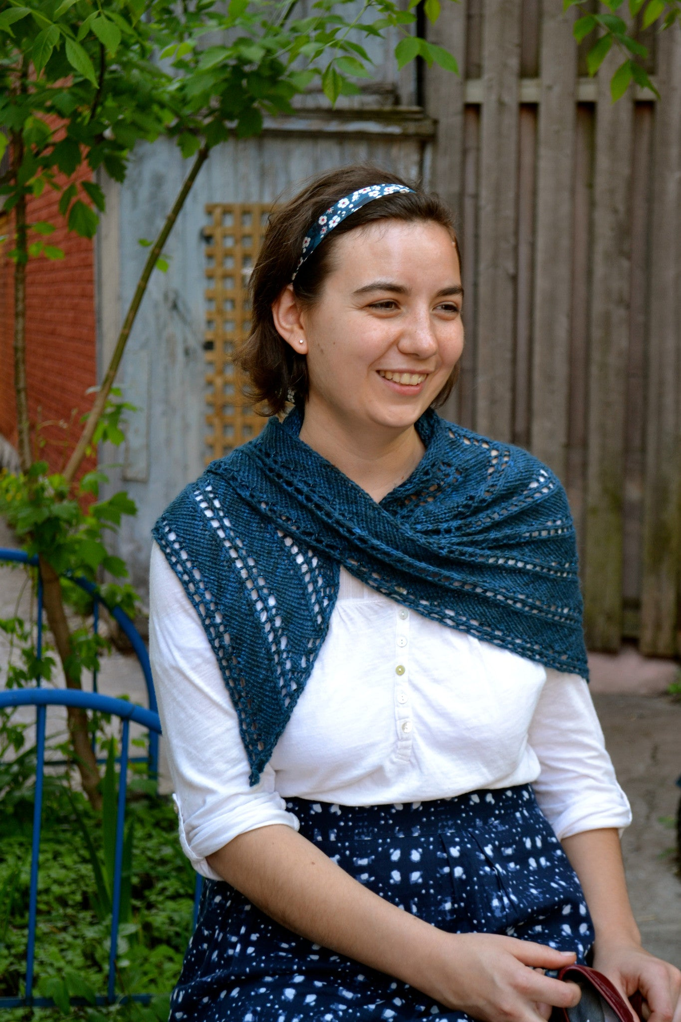 Diagonal Lace Shawl