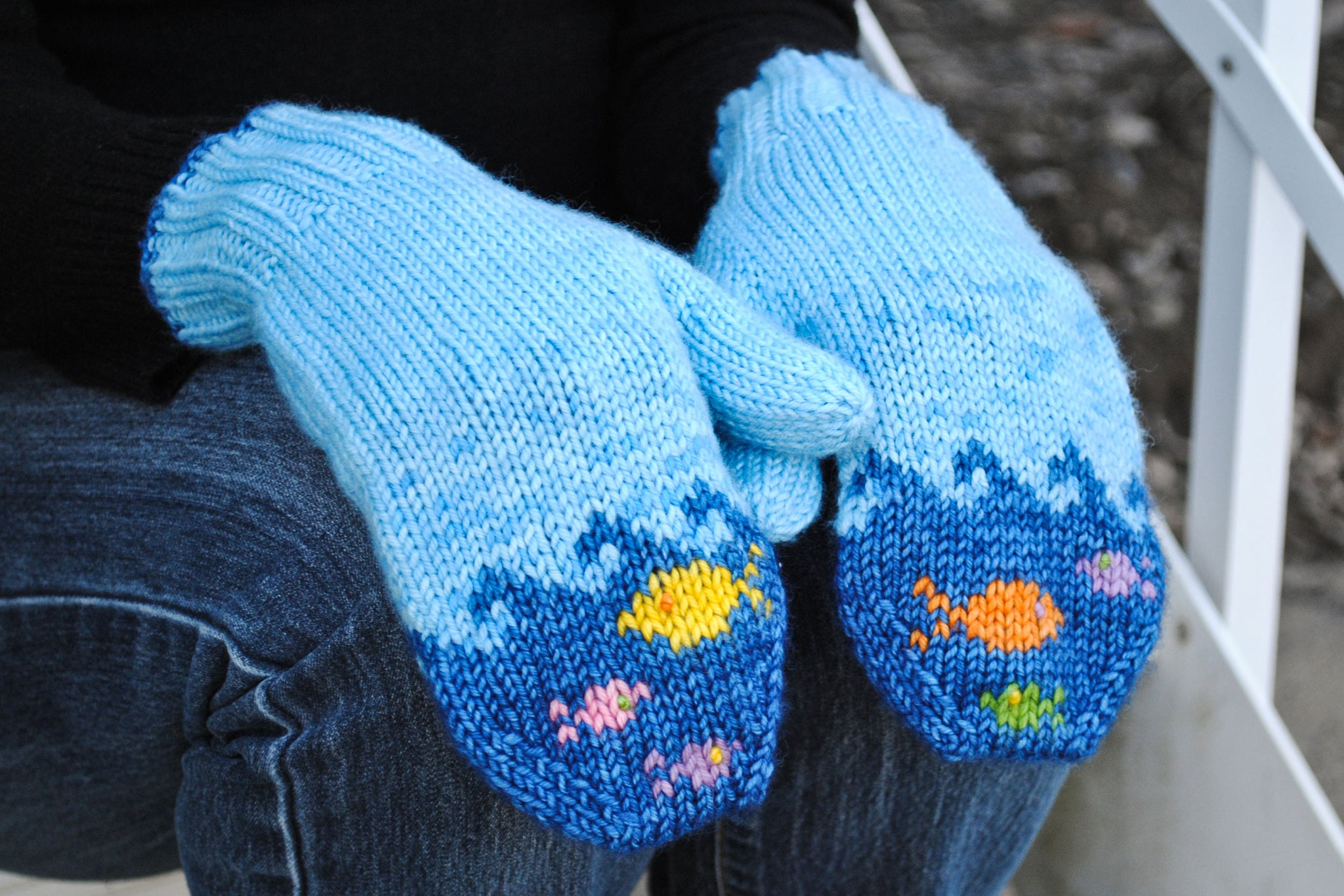 Fish in the Sea Mittens