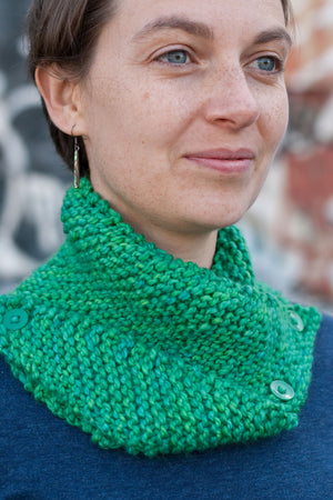 Dissymmetry Cowl free knitting pattern - Sweet Paprika Designs