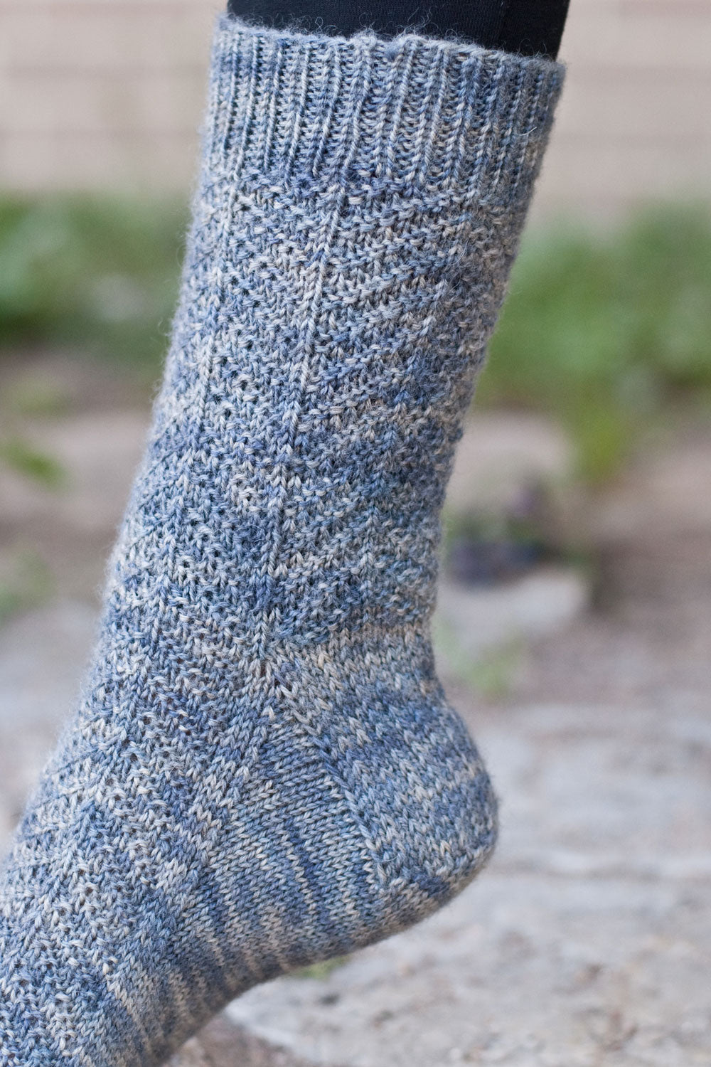 Harrowsmith sock knitting pattern close up