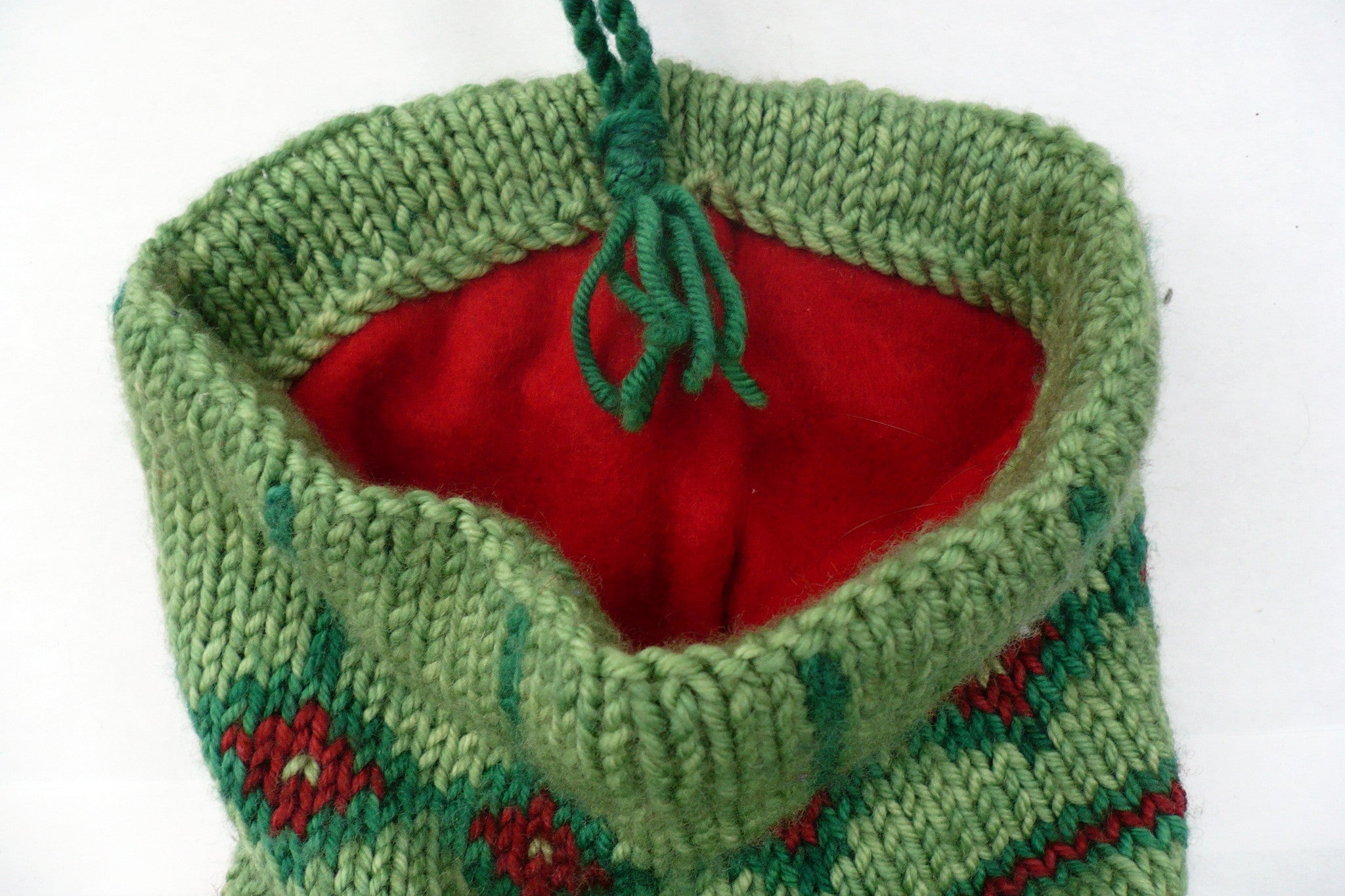 Holly Christmas Stocking Knitting Kit