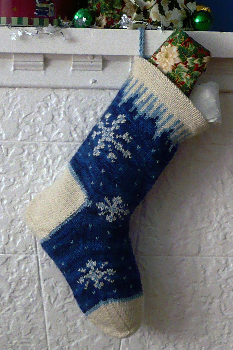 Knit Pattern For Christmas Stocking Kit : Icicle Christmas Stocking knitting kit - Sweet Paprika Designs