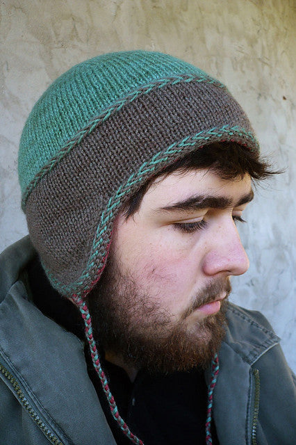 Little Leif kids reversible hat knitting pattern - Sweet Paprika Designs