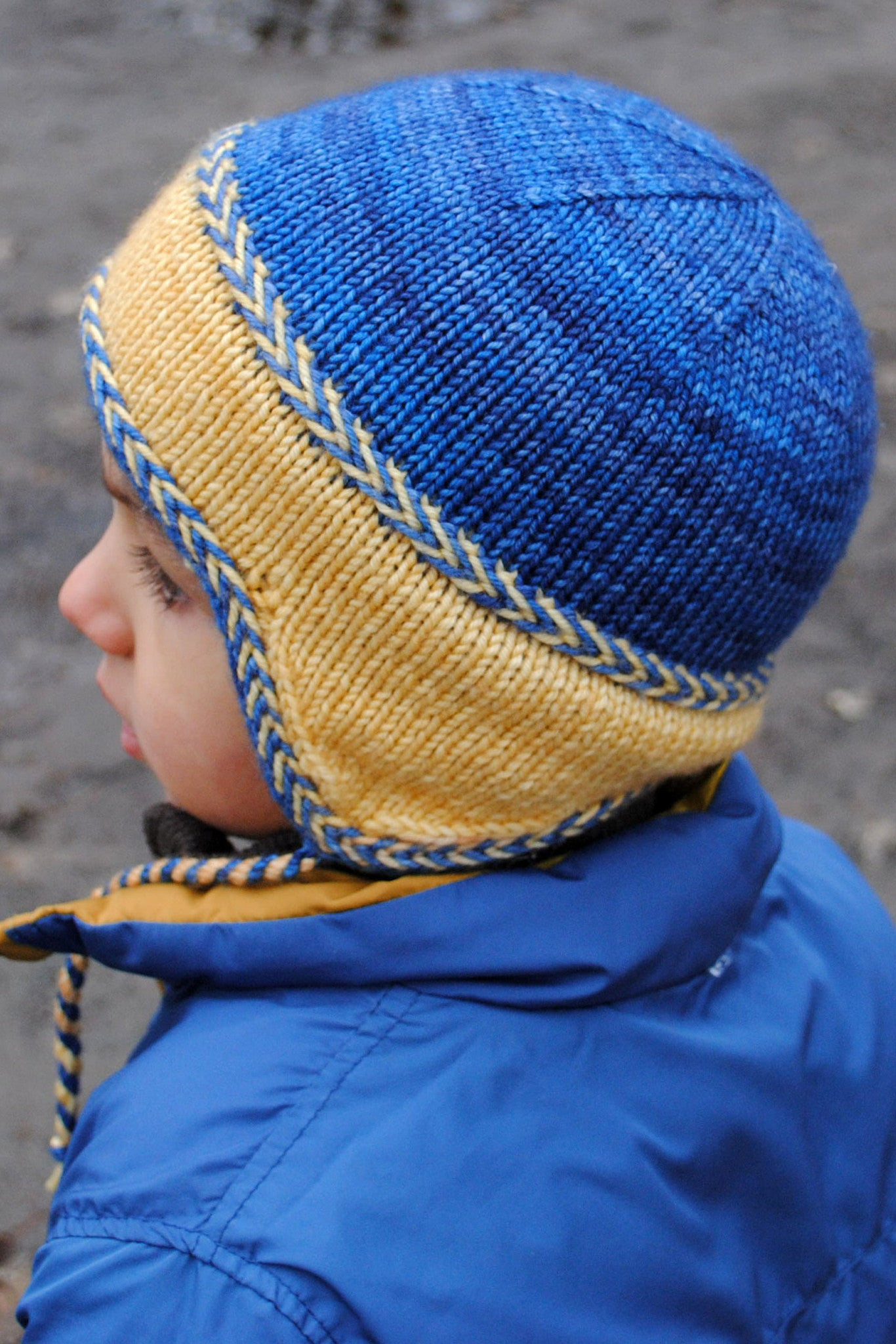 Little Leif double-knit toddler hat