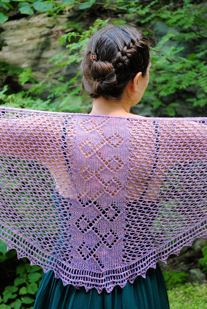 Meandering Pathway Shawl knitting pattern