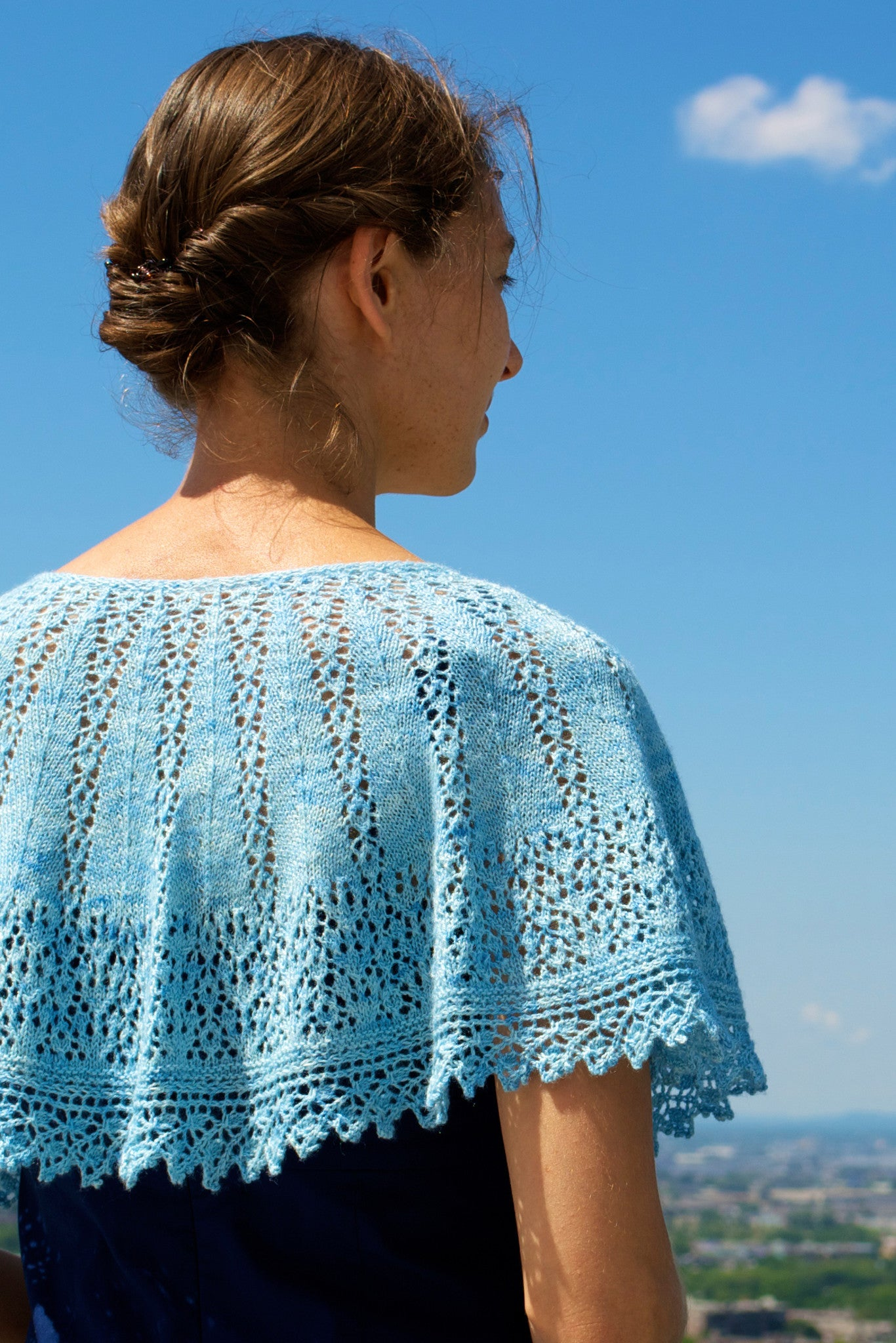 Millicent Capelet lace shawl knitting pattern