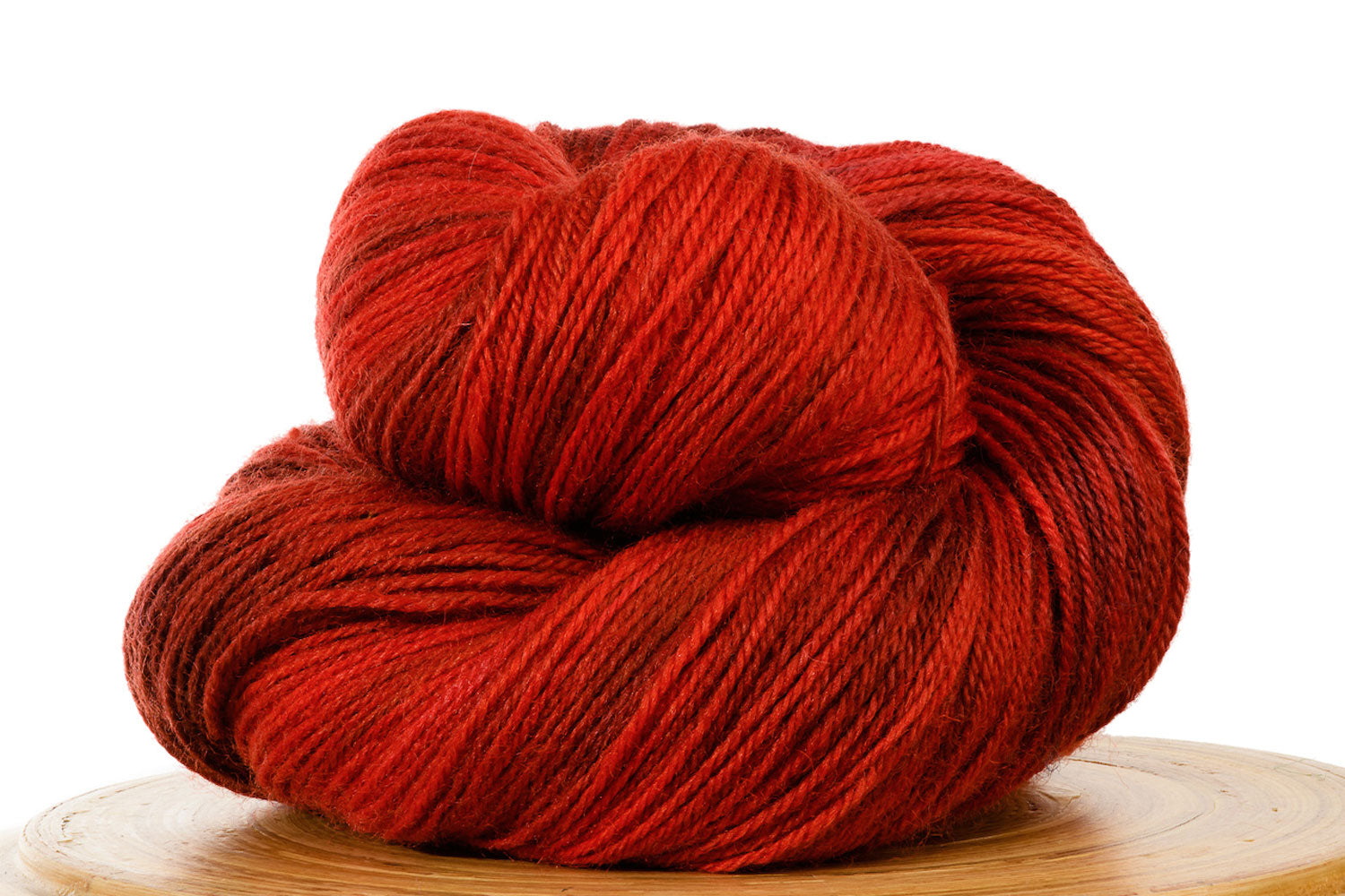 Pizzicato hand-dyed BFL sock yarn in Heartbeat