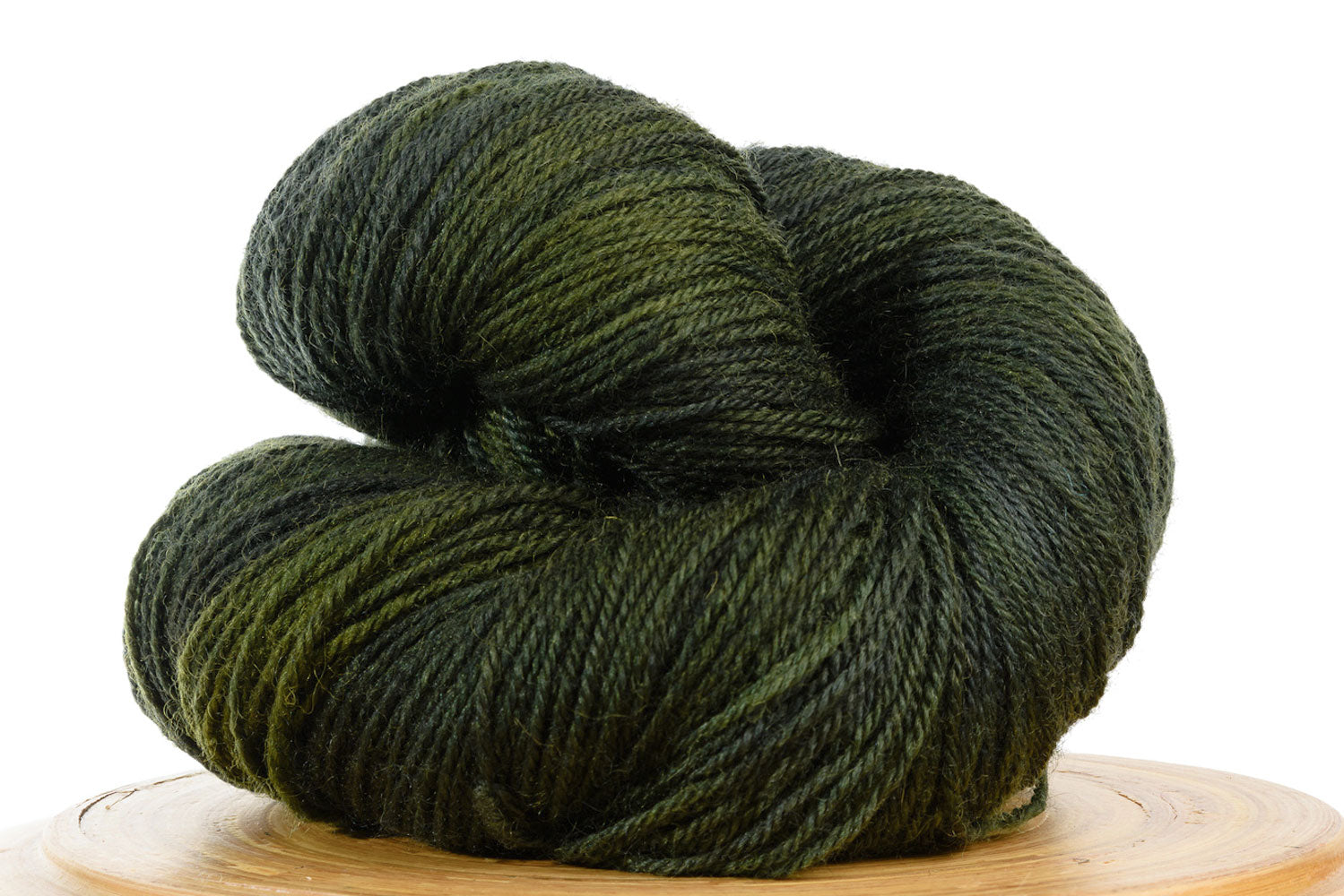Pizzicato hand-dyed BFL sock yarn in Sherwood