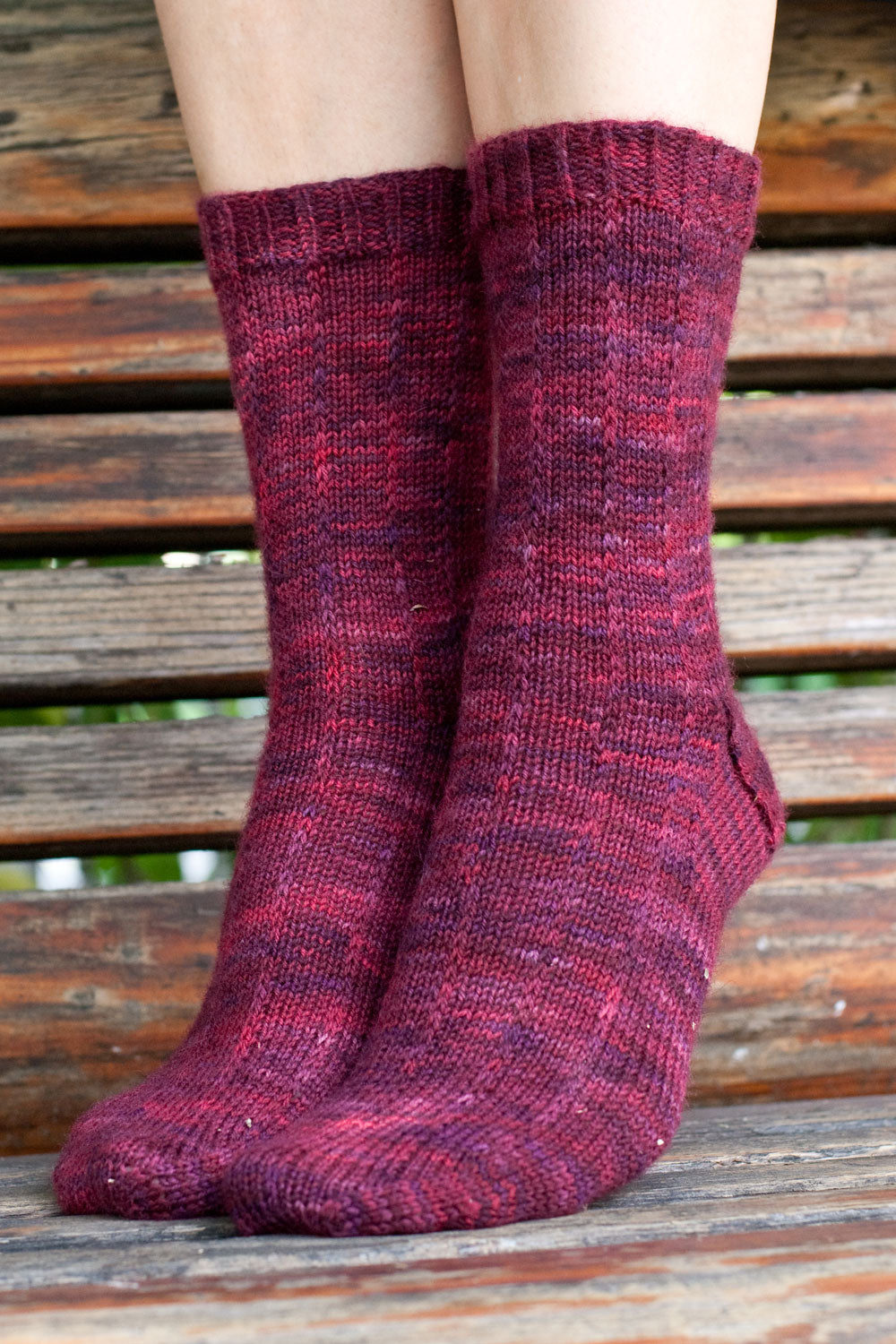 Pizzicato pinstripe socks free knitting pattern