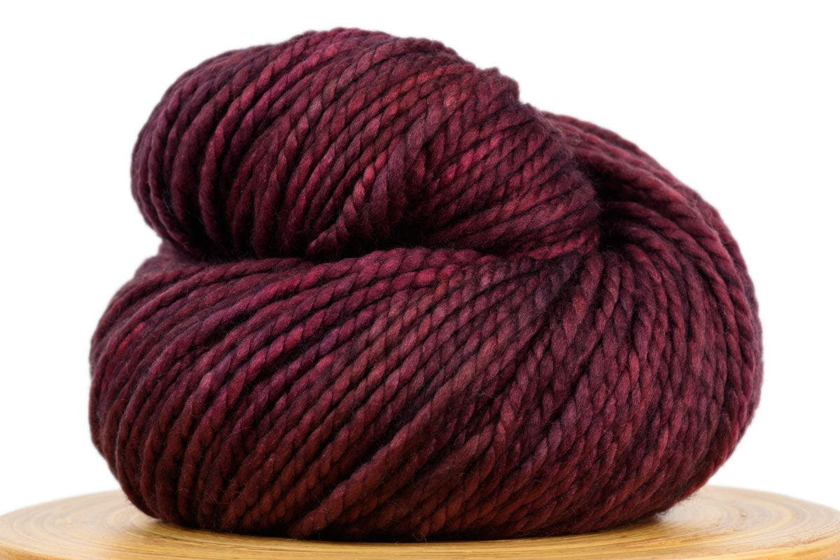 Presto bulky weight hand-dyed merino yarn in Boysenberry