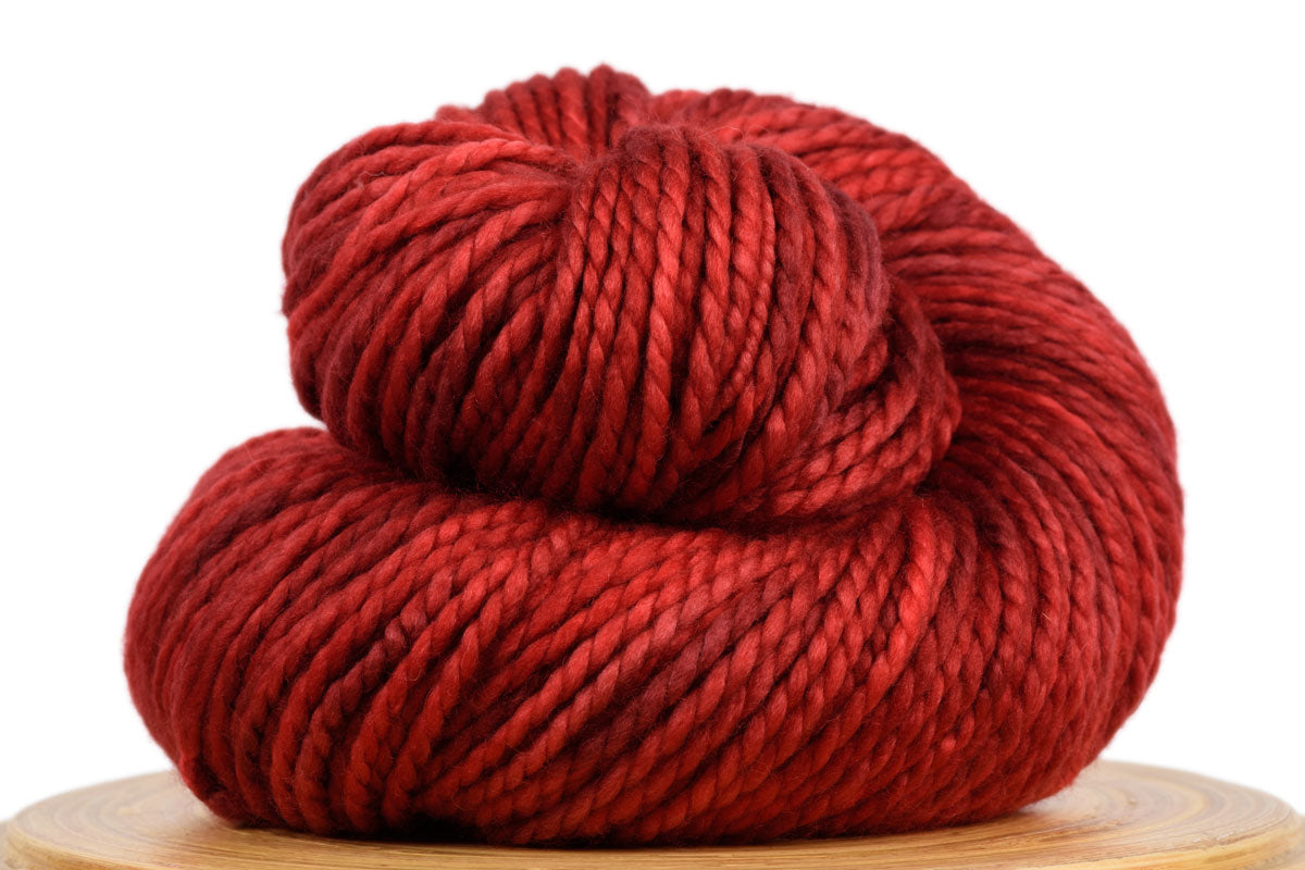 Presto bulky weight hand-dyed merino yarn in Fire Engine