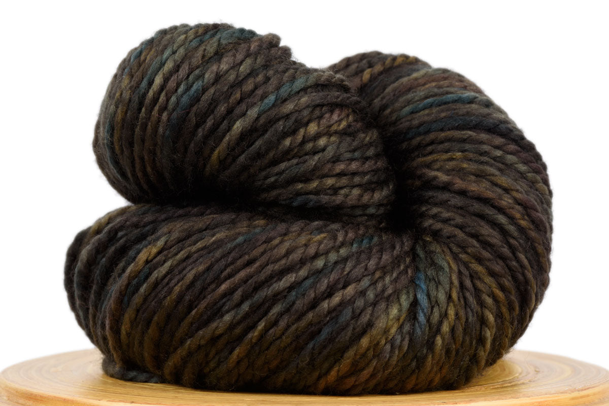 Presto bulky weight hand-dyed merino yarn in Forest Floor