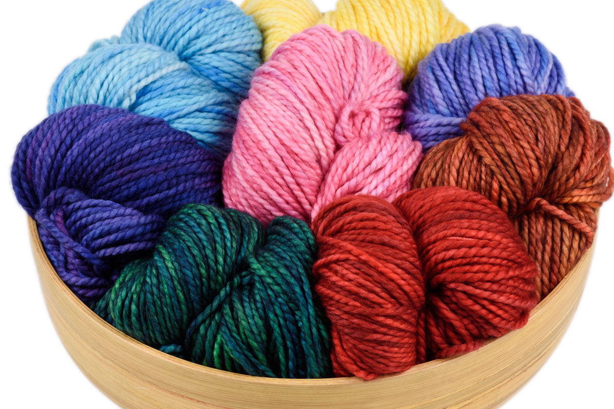 Presto bulky weight hand-dyed merino yarn