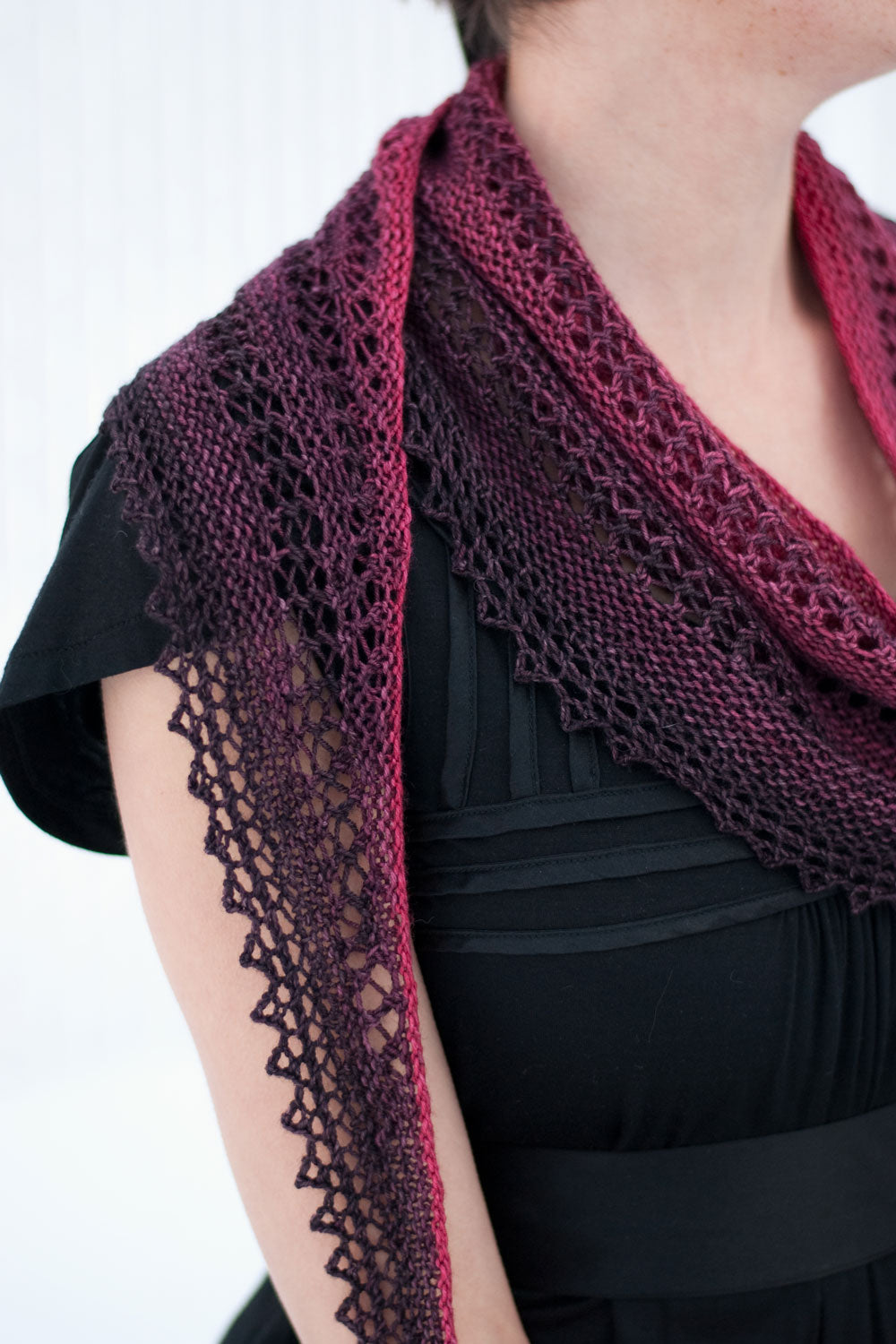 That Night there were Roses shawlette knitting pattern - Sweet ...