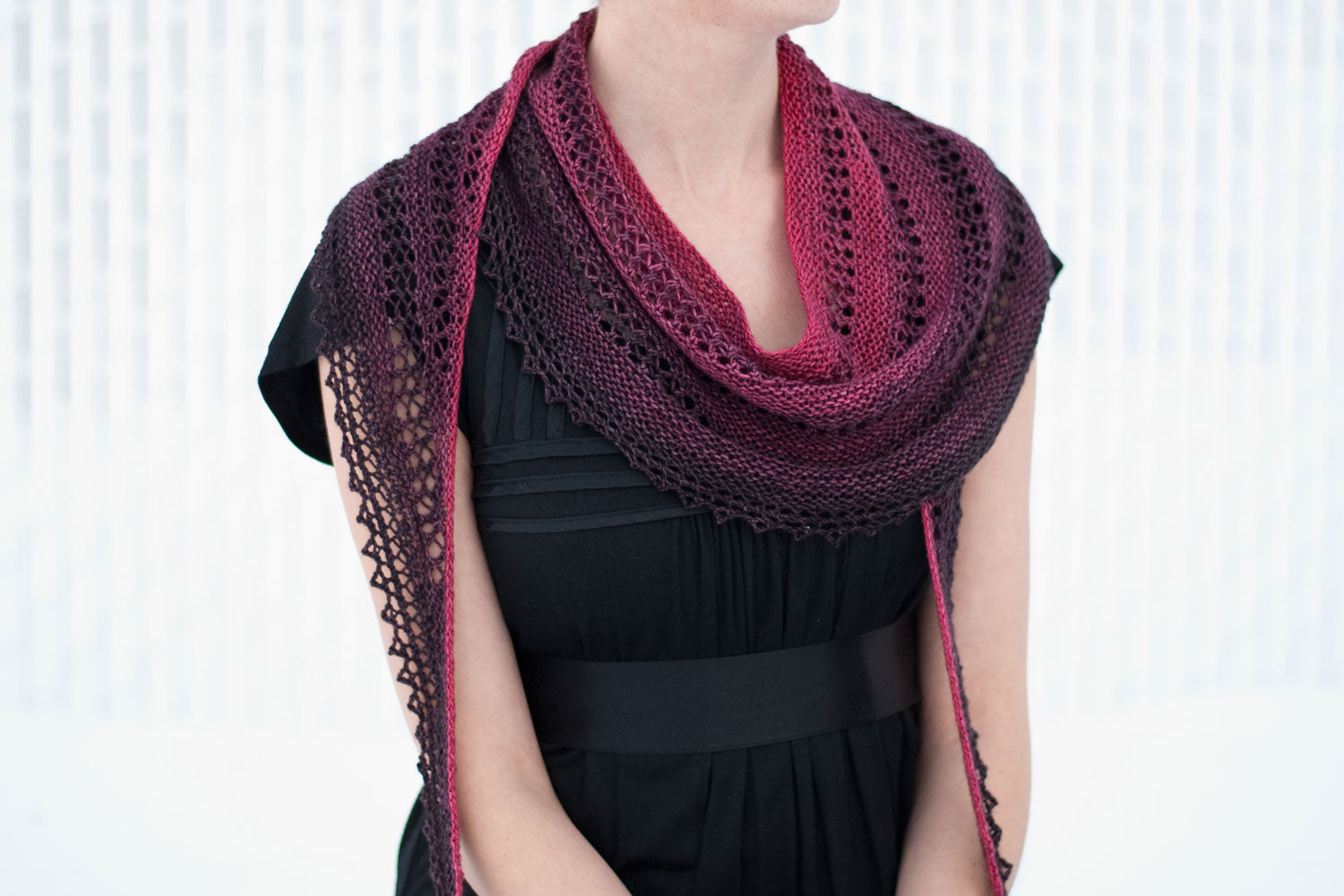 Millicent Capelet lace shawlette knitting pattern - Sweet Paprika ...