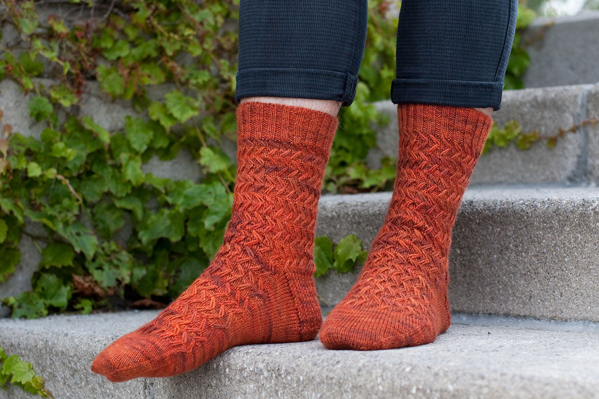 Wayfaring Stranger sock knitting pattern for men