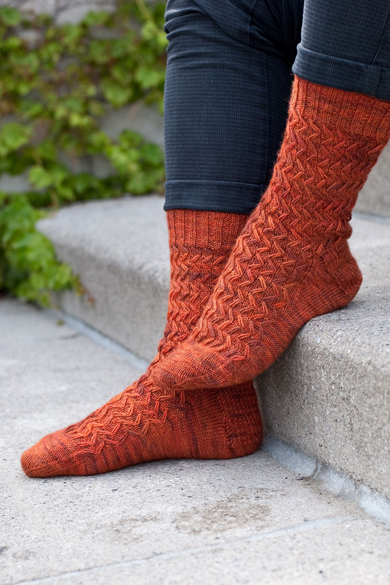 Wayfaring Stranger men's sock knitting pattern