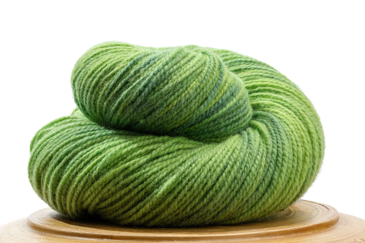 Winfield Canadian hand-dyed yarn in Celery, a vibrant light green