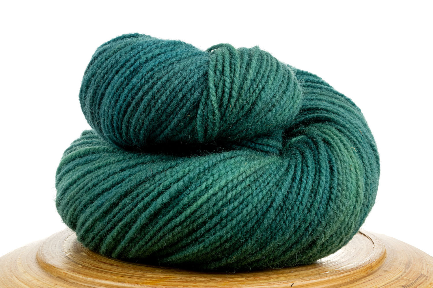 Winfield Canadian hand-dyed yarn in Early Morning Rain, a light blue-green