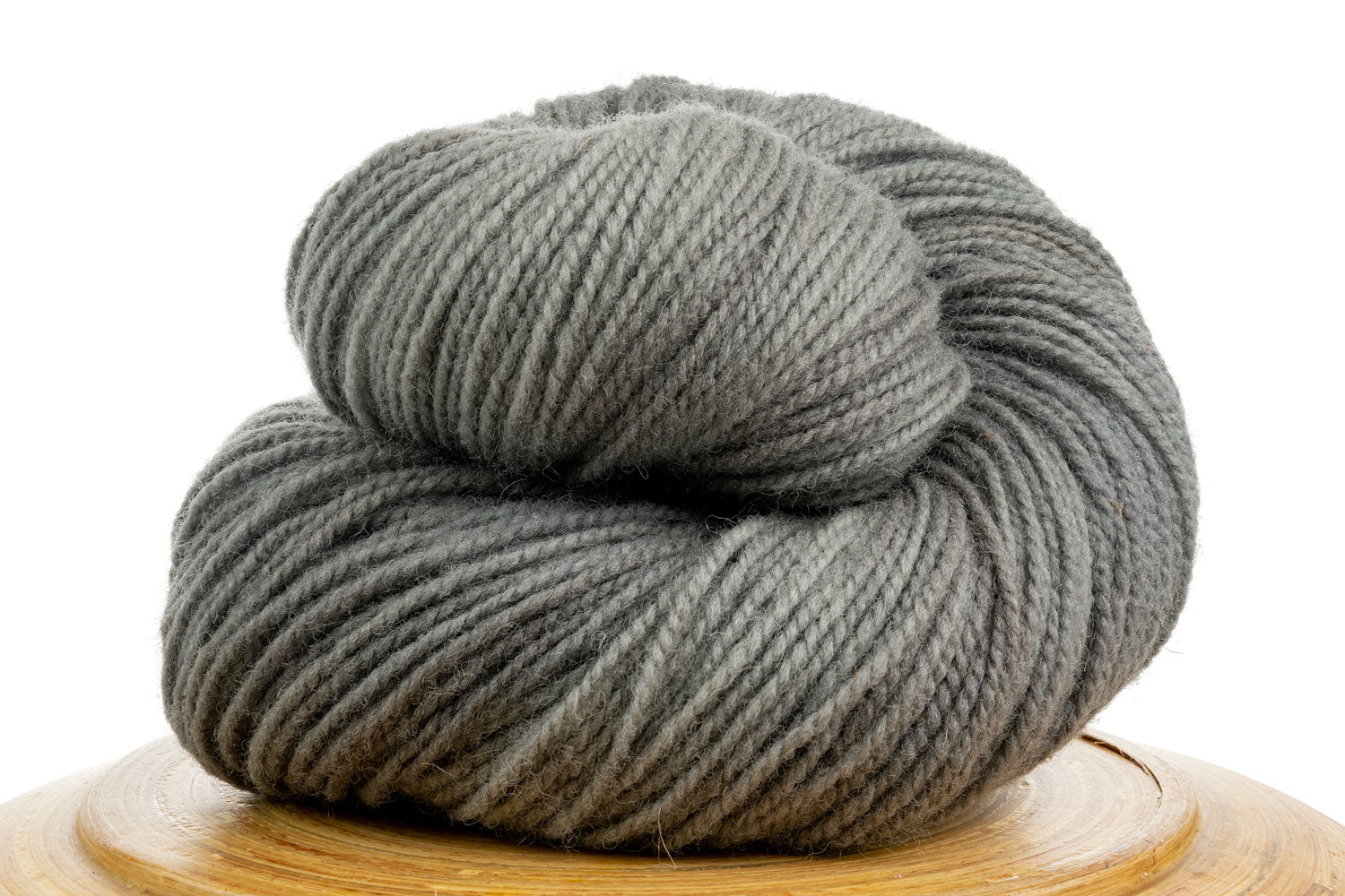 Winfield Canadian hand-dyed yarn in Fog, a medium cool grey