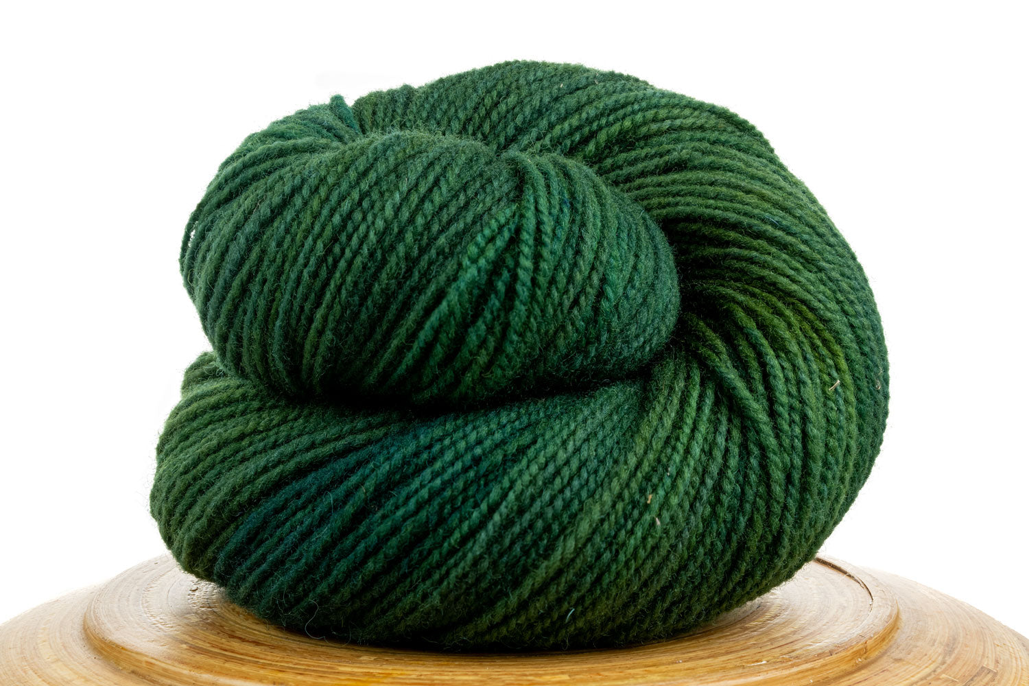 Winfield Canadian hand-dyed yarn in Hinterlands, a dark green