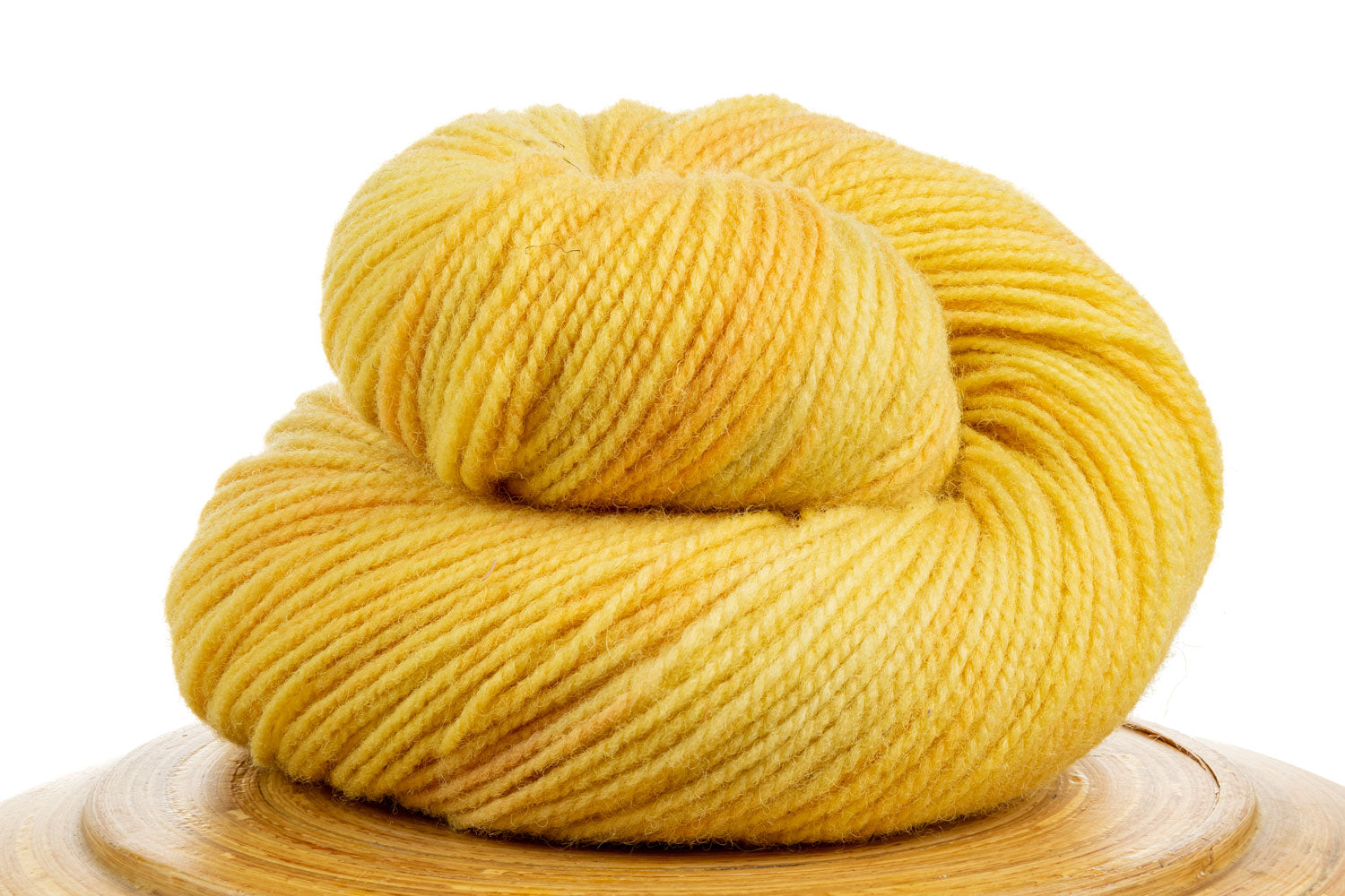 Winfield Canadian hand-dyed yarn in Lemonade, a bright sunny yellow