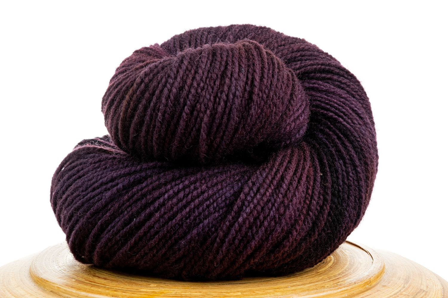 Winfield Canadian hand-dyed wool yarn in Northern Sky, a dark purple