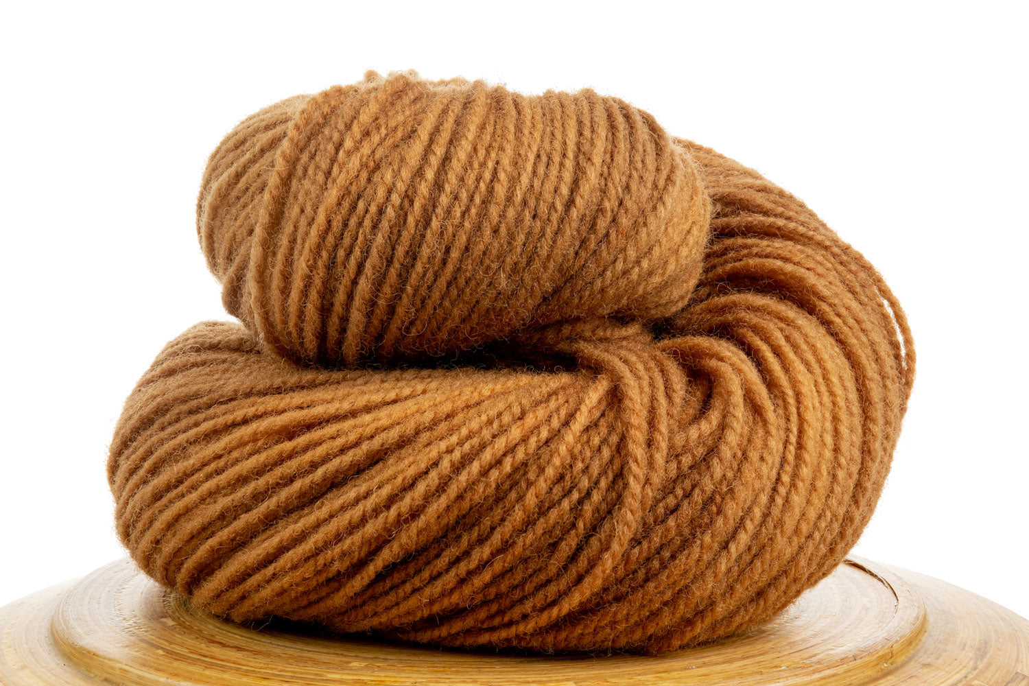 Winfield Canadian hand-dyed wool yarn in Sandy Beach, a pale brown