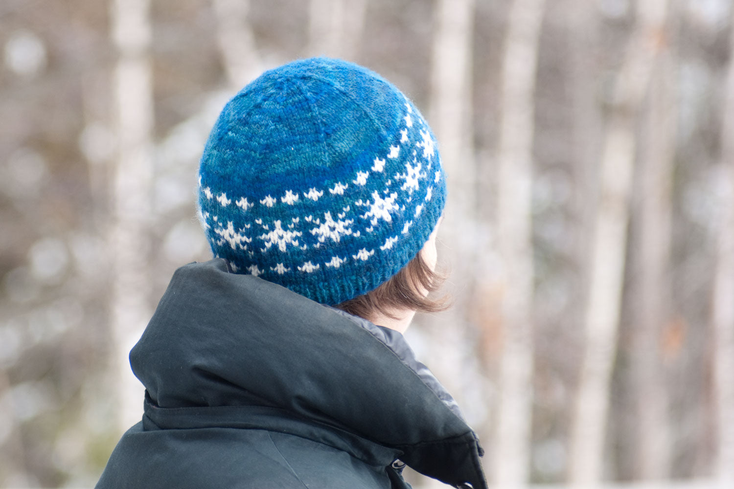 Winter Sonata hat pattern with stranded knitting