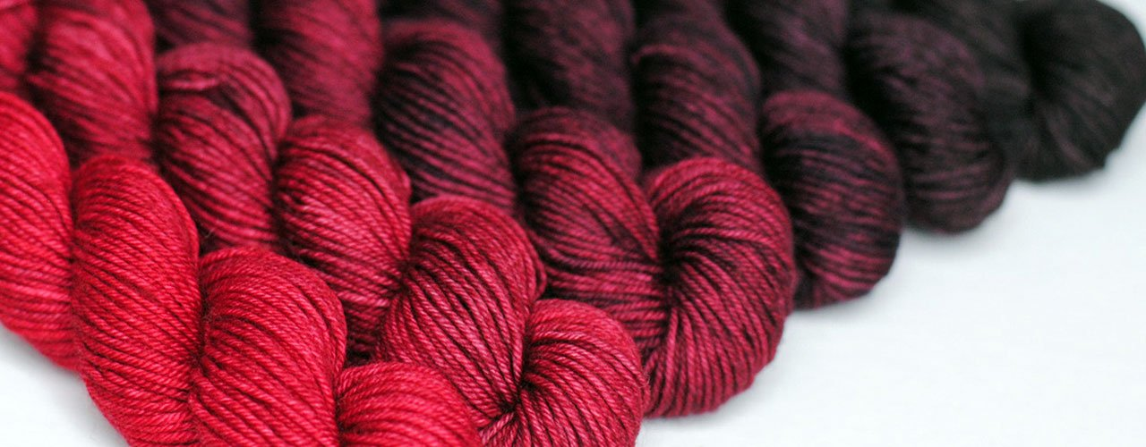 Crescendo hand-dyed gradient mini-skein sets
