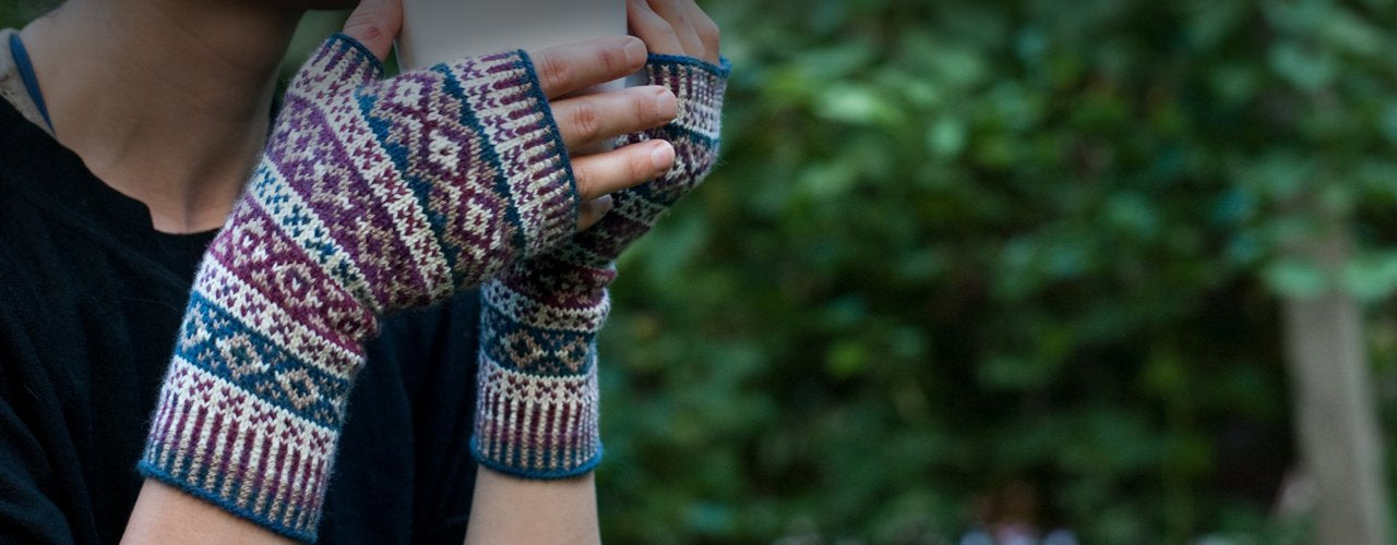 portraiture mitts knitting pattern