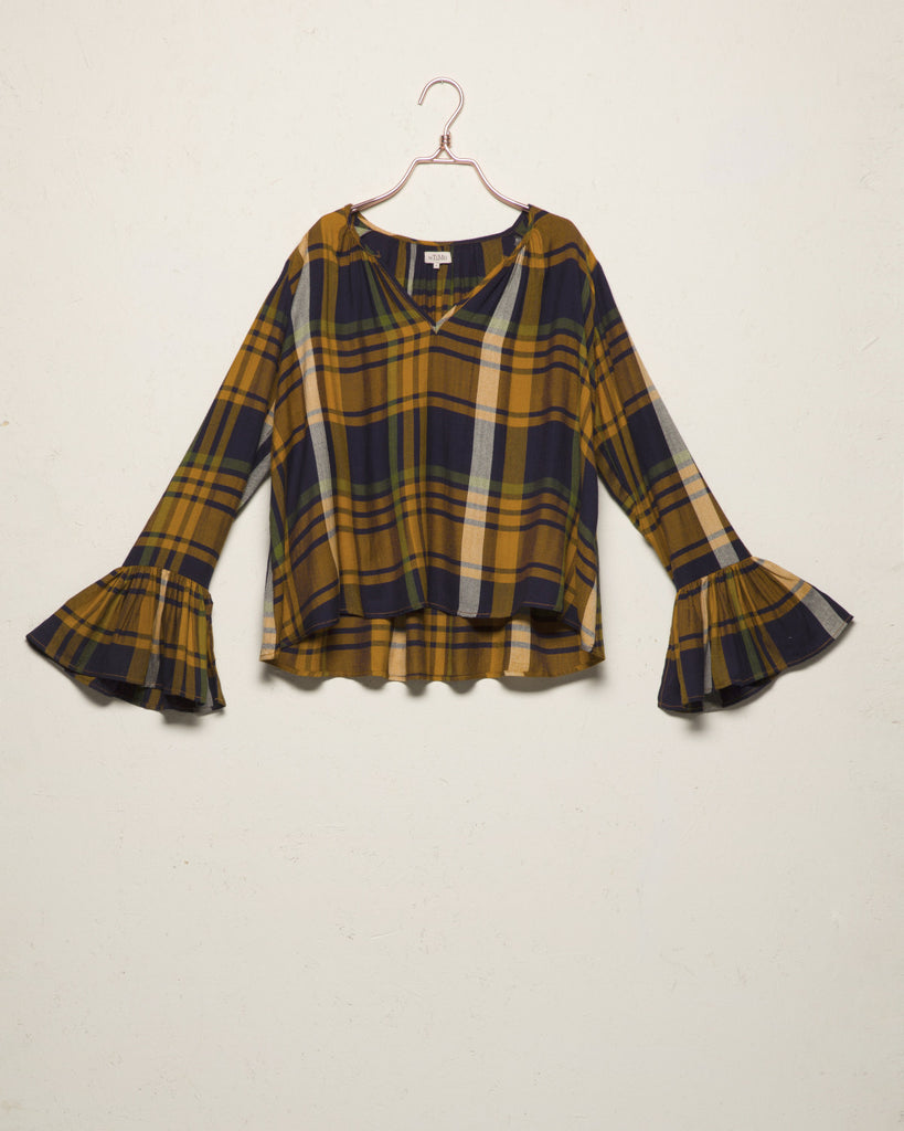 WEB-EXCLUSIVE Checked Blouse