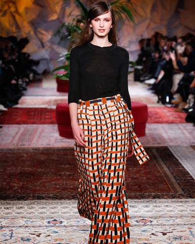 Wide Printed Trousers