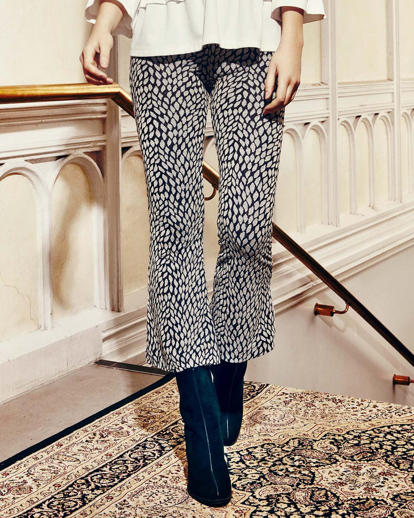 Flared Leaves Trousers