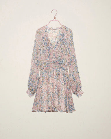 Chiffon Bell Sleeve Dress