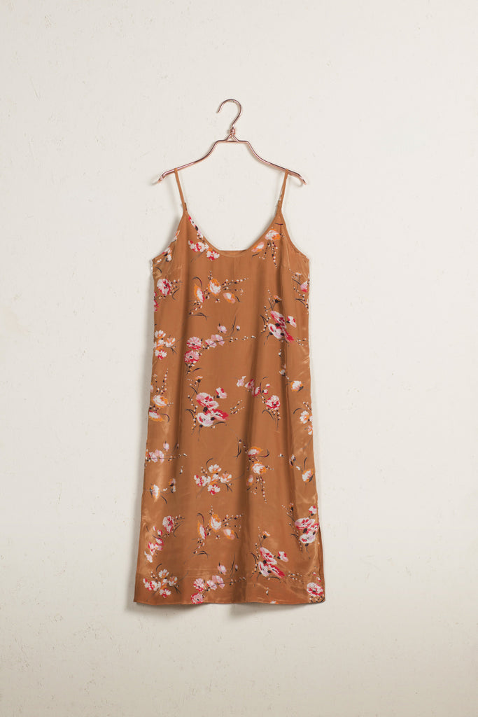 Aroma Flowers Slip Dress