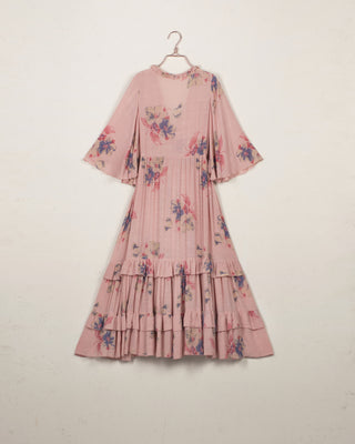 Faded Flowers Midi Dress