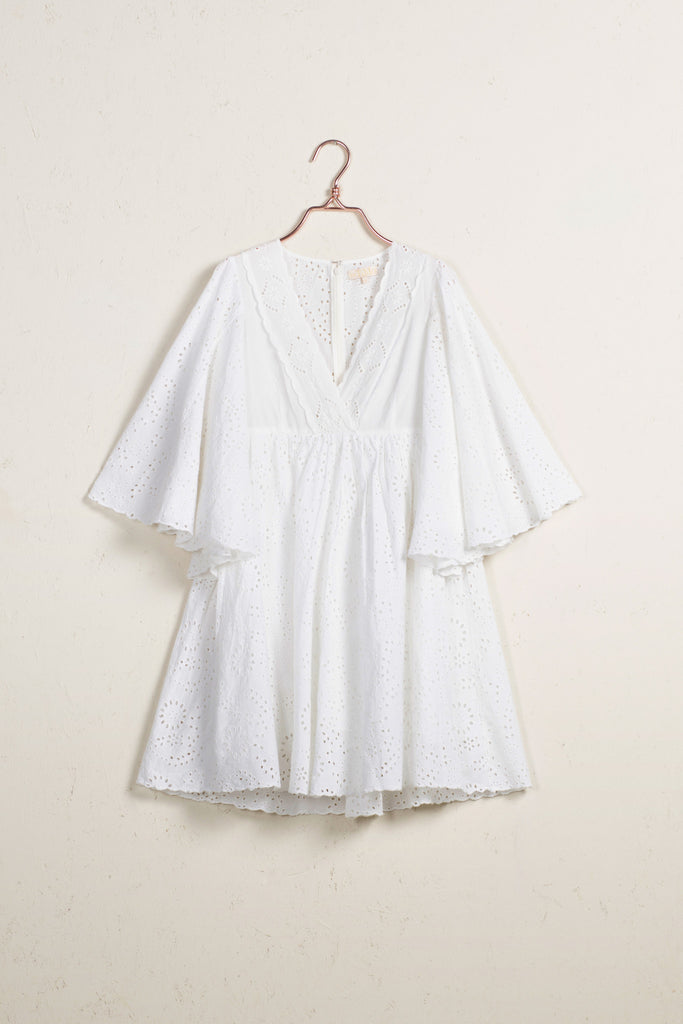 Broderie Anglaise Flared Dress
