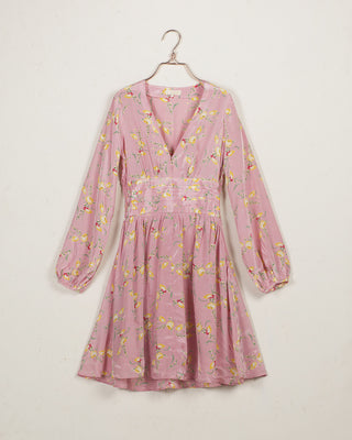 Bell Sleeve Dress Summer Flowers