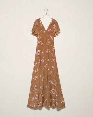 Aroma Flowers Maxi Dress