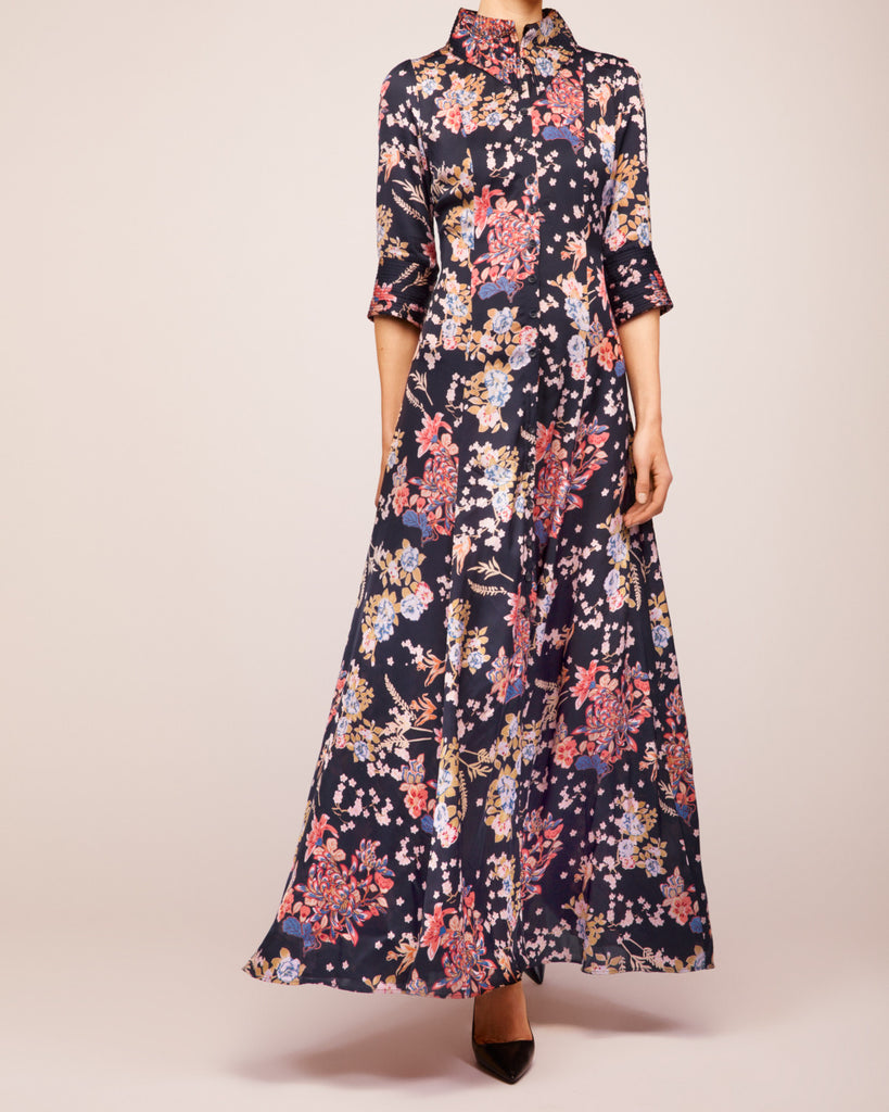 Blossoms Marine Gown