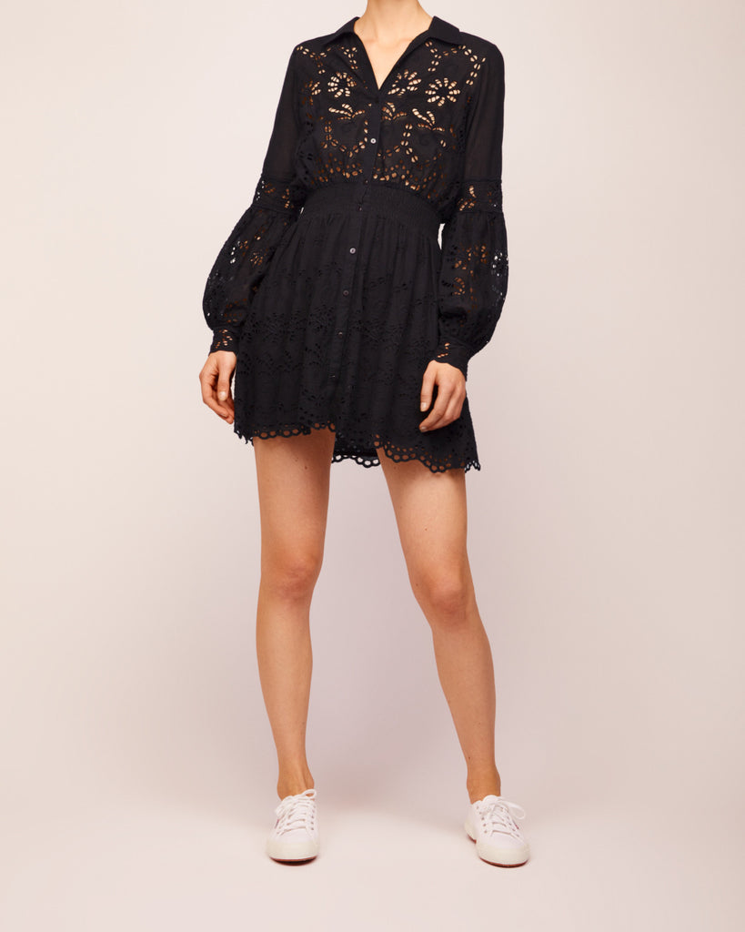 Broderie Anglaise Dress Black