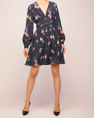 Bell Sleeve Dress Dark Aroma