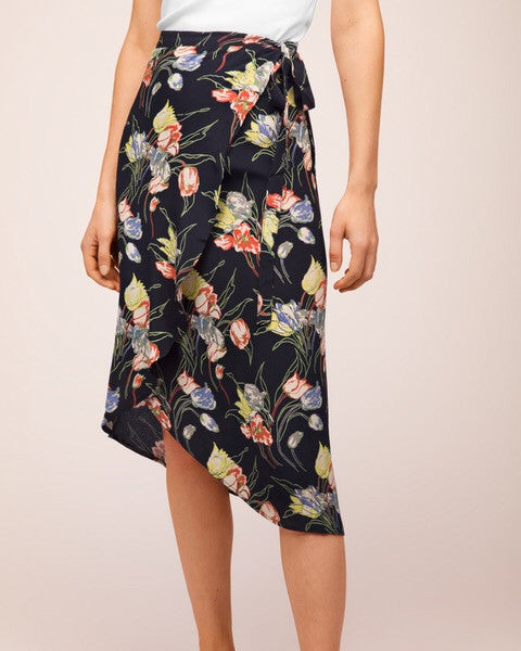Wrap Skirt Trailing Flowers