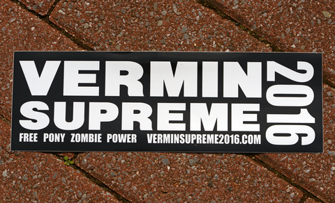Vermin Supreme 2016 Bumper Sticker